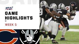 Bears vs. Raiders Week 5 Highlights | NFL 2019