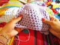 "Gorro  Bebé Punto Puff Crochet ""Lila"" (2)  por Maricita Colours Subtitles in English & Deutsch"