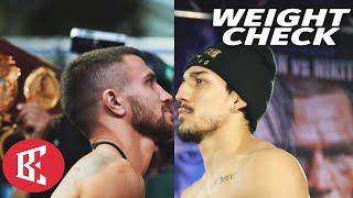 Vasiliy Lomachenko & Teofimo Lopez MAKE WEIGHT - 14 day Weight Check WBC