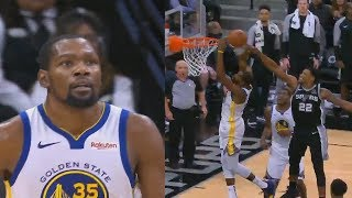 Kevin Durant Tries To Be Stephen Curry But Chokes vs Spurs! Warriors vs Spurs