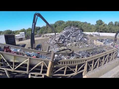 Drone View of a Scrap Recycling facility Sadoff Iron & Metal Company Fond du Lac, WI