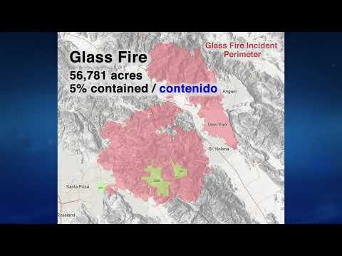 Glass Fire Map Update - 10/1/2020