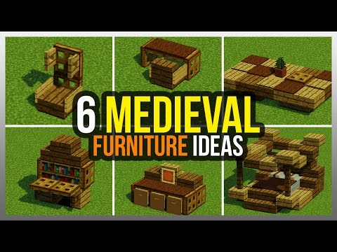 6 Medieval Furniture Ideas Minecraft