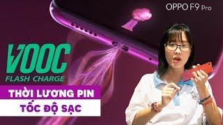 Đánh giá thời lượng pin và công nghệ sạc của Oppo F9