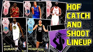 ALL HOF CATCH AND SHOOT LINEUP SQUAD BUILDER! ITS TOO GLITCHY! NBA 2k18 MYTEAM