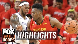 Bruno Fernando records double double in No. 21 Maryland's win | FOX COLLEGE HOOPS HIGHLIGHTS