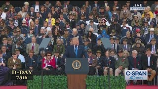 President Trump FULL REMARKS on 75th Anniversary of D-Day (C-SPAN)