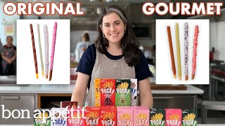 Pastry Chef Attempts to Make Gourmet Pocky | Gourmet Makes | Bon Appétit