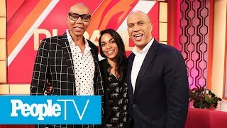 Cory Booker Hints At Wedding Bells With Rosario Dawson As She Joins Him For Talk Show | PeopleTV