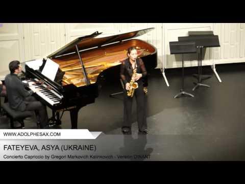 Dinant 2014 - Fateyeva, Asya - Concerto Capriccio by Gregori Markovich Kalinkovich