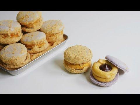 인절미 마카롱 만들기 : 초콜릿 콩가루 마카롱 Injeolmi Macarons   한세