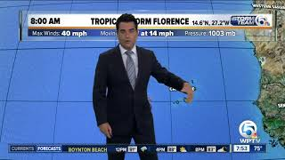 Tropical Storm Florence update - 9/1/18 - 8am report