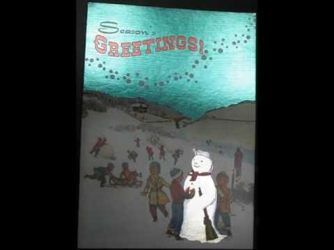 Silver Snowman Card