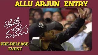 Allu Arjun entry at Padi Padi...pre-release event..