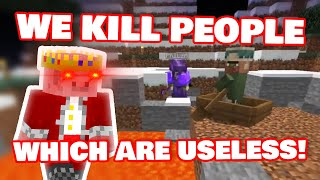 Techno And Philza Scary Execute Nitwit Villager! /w Ranboo DREAM SMP