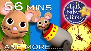 Hickory Dickory Dock | Plus Lots More Nursery Rhymes | 56 Minutes Compilation from LittleBabyBum!