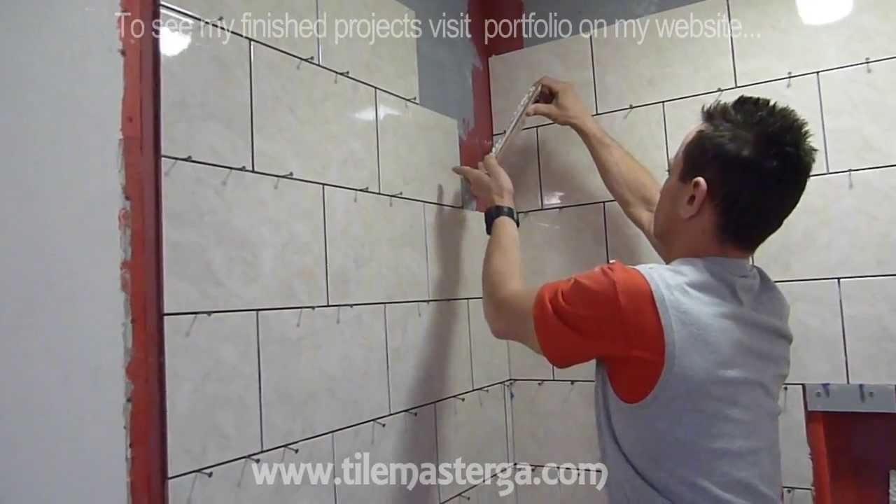 "Part ""3"" Shower wall Tile installation DIY - How to ..."