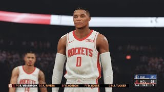 NBA 2k20 - Houston Rockets vs Dallas Mavericks Full Match (1440p 60fps)