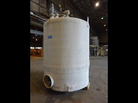 Used- Augusta Fiberglass Tank, 1,930 Gallon, Vertical. - stock # 48243028