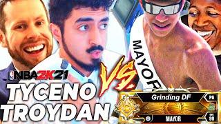 TYCENO + TROYDAN vs GRINDING DF + SHAKE | BEST OF 3 TO WIN NEW PARKS! MAYOR BATTLE 2K21 NEXT GEN
