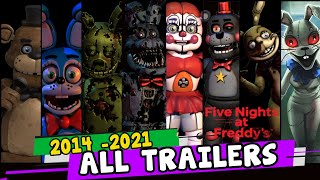 All FNaF Trailers 2014 - 2021 - FNaF 1 to FNaF Security Breach