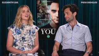 Penn Badgley & Elizabeth Lail talk about YOU on Lifetime