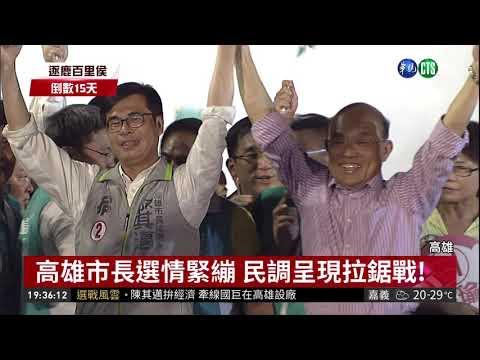 高雄市長選情緊繃 民調呈現拉鋸戰! | 華視新聞 20181109
