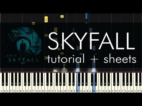 Skyfall - Piano Tutorial - How to Play - Adele