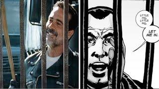 Negan Visits Alexandria Comparison - Walking Dead TV Show VS Comic (Season 7 Episode 4)