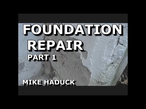 How I Patch Or Fix Up A Foundation Part 1 Of 3 Mike