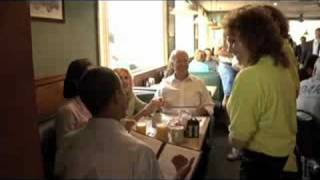 The Obamas and Bidens at the Yankee Kitchen Diner