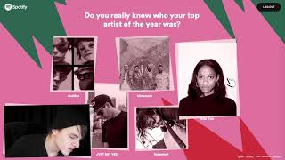 My 2017 Wrapped on Spotify!