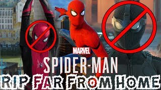 Spider-Man PS4 - Insomniac Confirms NO Spider-Man: Far From Home Suits!!!
