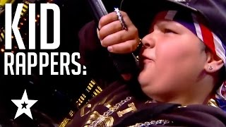 BEST KID RAPPERS From Around The World! | Kids Rap On America, France & Britain's Got Talent