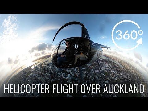 360° Helicopter Flight over Auckland CBD with Inflite Charters
