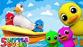 Five Little Babies On Speed Boat Toys for Kids - Five Little Duck Nursery Rhymes & Kids Songs