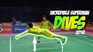 Incredible Superman Badminton Dives 2018 | Amazing Speculation Badminton Dives 2018 | God of Sports