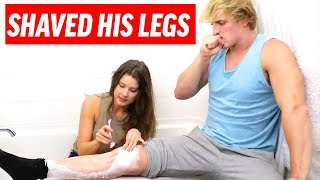 Logan Paul Shaved His Legs! | Amanda Cerny Funny How To Tutorials, Sketches and Vlogs