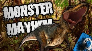 T-REX MONSTER MAYHEM Pt 1 w/ Benji Games | Raszius TV
