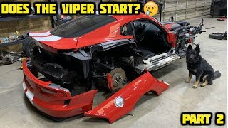Rebuilding a Wrecked 2017 Dodge Viper GT Part 2