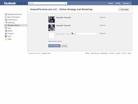 Add and Remove Admins to Facebook Page