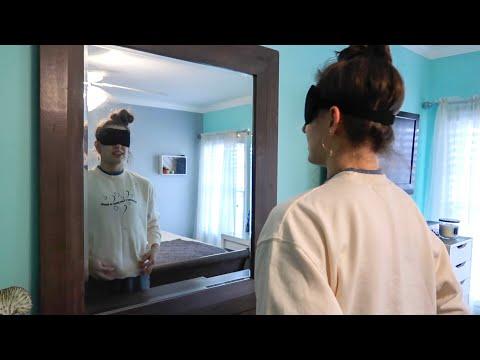 blindfolded room tour