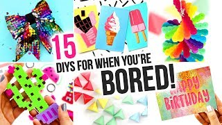 15 Easy DIYs To Do When You're BORED - DIY Compilation Video | @karenkavett