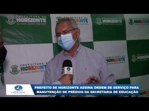 PREFEITO DE HORIZONTE ASSINA ORDEM DE SERVIÇO PARA MANUTENÇÃO DE PRÉDIOS DA SECRETARIA DE EDUCAÇÃO