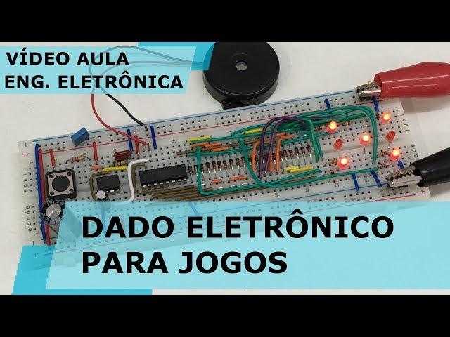 DADO ELETRÔNICO PARA JOGOS | Vídeo Aula #203