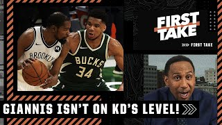 'He's not Kevin Durant, let's stop that right now!' - Stephen A. on Giannis vs. KD | First Take
