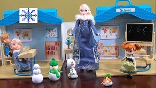 Princess Story: Frozen Anna And Elsa School Day Story With Disney Frozen Toys And My Life As School