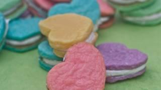 Cream Cheese Sugar Cookies Recipe- Heart Sandwich Cookies