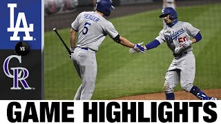 Mookie Betts homers, plates three in Dodgers' win | Dodgers-Rockies Game Highlights 9/18/20