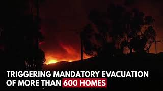 Sylmar Fire Photos And Videos  Homes Threatened In California's Kagel Canyon